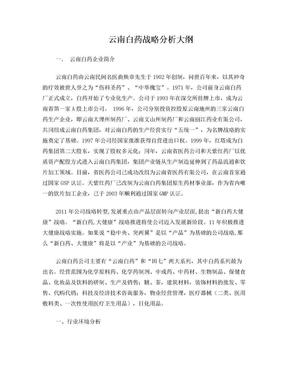 云南白药战略分析大纲.doc