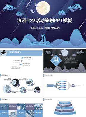 剪纸风格浪漫七夕活动策划ppt