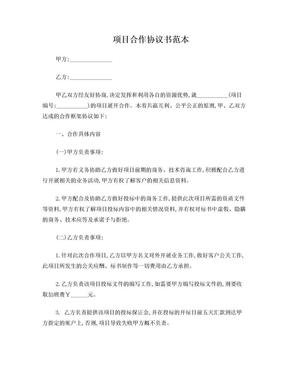 项目合作协议书范本.doc