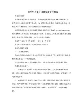 大学生企业公司财务部实习报告.doc
