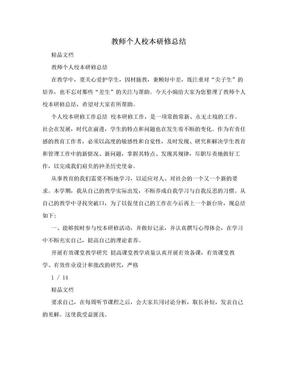 教师个人校本研修总结.doc