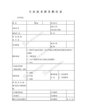 专业技术职务聘任表.doc