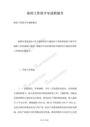 驻村工作组半年述职报告.docx