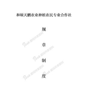 农业种植农民专业合作社管理制度.doc