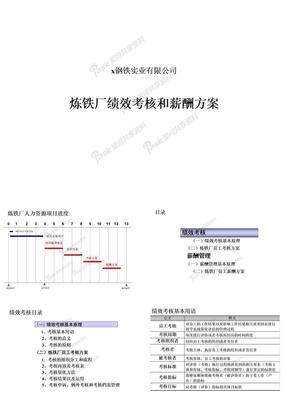 炼铁厂绩效考核和薪酬方案.ppt