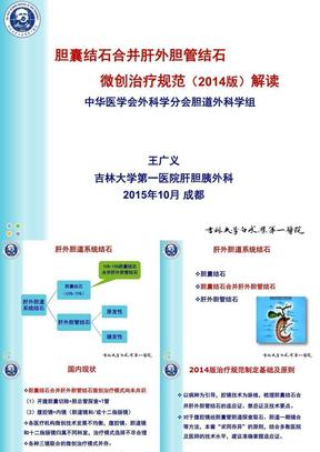 胆囊结石并发肝外胆管结石微创治疗规范解读(成都).ppt