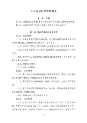 劳动纪律管理制度.doc