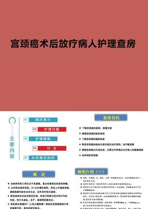 宫颈癌术后放疗病人护理查房ppt演示课件.pptx