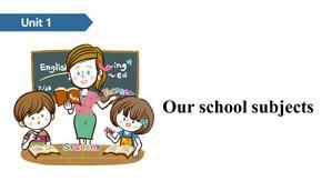 四年级下册英语课件-Unit 1 Our school subjects A ∣译林版(三起) (共12张PPT).ppt