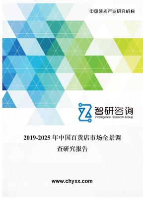 2019-2025年中国百货店市场全景调查研究报告.doc