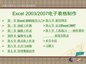 Excel电子表格制作自学教程.ppt