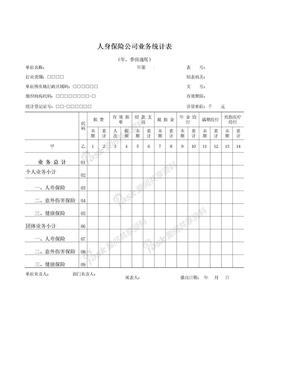 人身保险公司业务统计表.xls