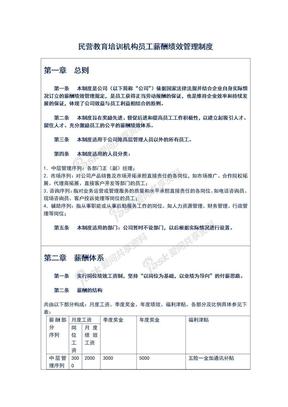 民营教育培训机构员工薪酬绩效管理制度.doc