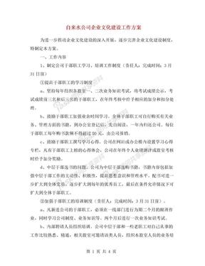 自来水公司企业文化建设工作方案.doc