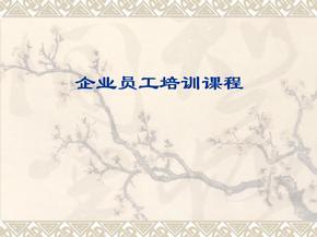 【励志】企业员工培训课程.ppt