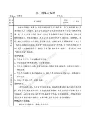 小学六年级语文下册集体备课教案.doc