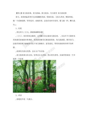 散文诗配画 春天的故事,夏天的雨,秋天的诗,冬天的雪[资料]