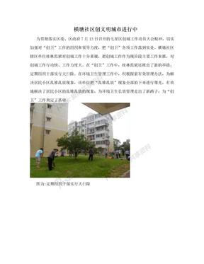 横塘社区创文明城市进行中