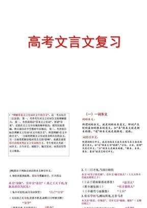 高考文言文实词复习ppt课件(1)