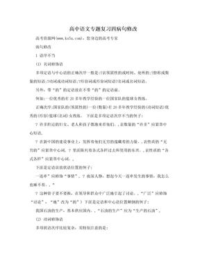 高中语文专题复习四病句修改