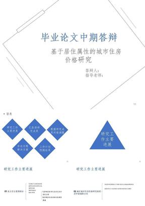 硕士毕业论文中期答辩PPT精选文档