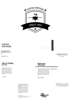 80页黑白配色品牌规划公司简介投资计划ppt模板