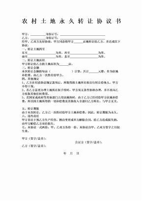 农村土地永久转让协议书 (2).doc