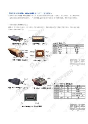 标准USB_Mini-USB接口定义(绝对经典)
