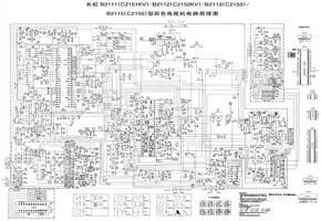 长虹 B2115型彩色电视机电路原理图