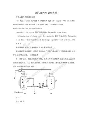蒸汽疏水阀 试验方法