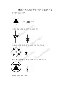 [优质文档]各类常用电子元件符号及其称号