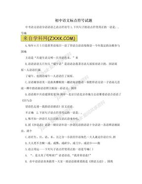 初中语文标点符号试题