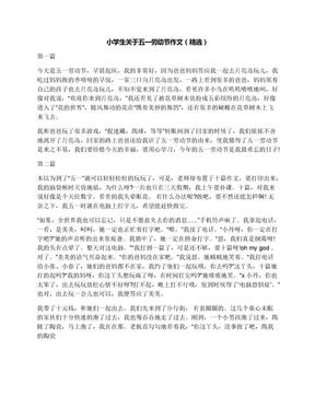 小学生关于五一劳动节作文(精选)