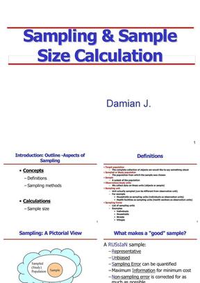 Sampling-and-sample-size-calculation-样本量计算方法大全