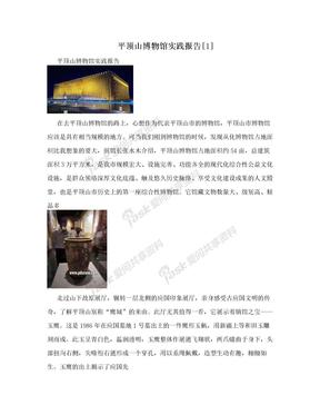 平顶山博物馆实践报告[1]