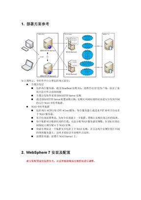WAS7集群部署方案及安装配置手册linux