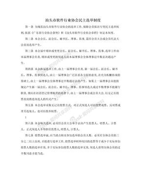 汕头市软件行业协会民主选举制度