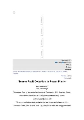 在火力发电厂的传感器故障检测