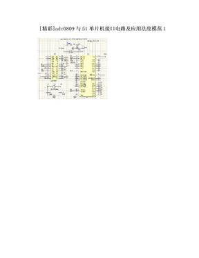 [精彩]adc0809与51单片机接口电路及应用法度模范1