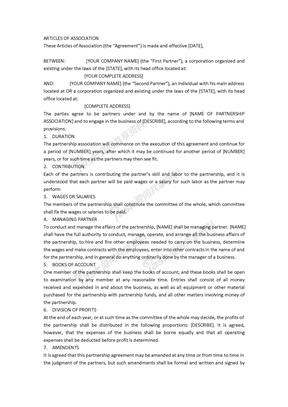 英文版法律顾问手册-公司章程大纲
