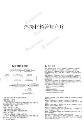焊接材料管理程序