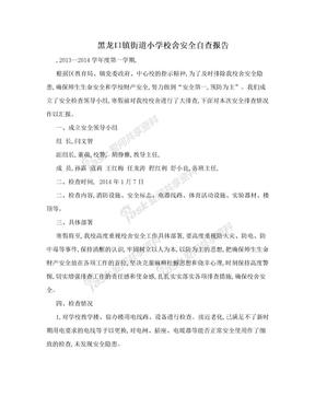 黑龙口镇街道小学校舍安全自查报告
