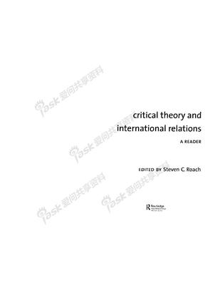 批判理论和国际关系文选