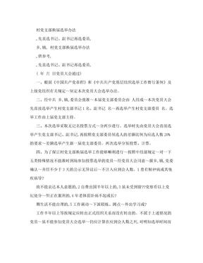 村党支部换届选举办法(直选书记再选委员)