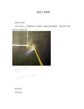 氢原子光谱图