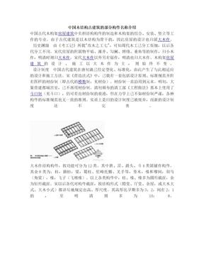 中国木结构古建筑的部分构件名称介绍