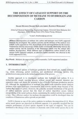 甲烷催化裂解催化剂影响