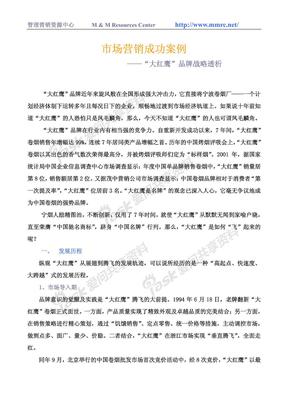 """""""大红鹰""""品牌战略透析"""