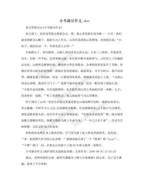 小考满分作文.doc
