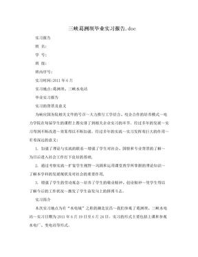 三峡葛洲坝毕业实习报告.doc